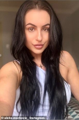Man about town! He is friends with Aleksandra Markovic (pictured), who also lives in Perth, and is about to launch a business with Amanda Micallef
