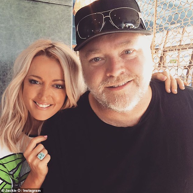 Giving back: A struggling Sydney mum got the shock of her life on Tuesday when she received a knock at the door by none other than Jackie'O' Henderson (left, with Kyle Sandilands)