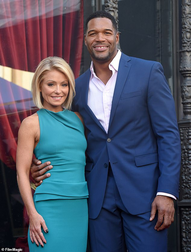 Happier times: Former Live! With Kelly and Michael star Michael Strahan has hinted at tensions between himself and former co-host Kelly Ripa. The pair seen in 2015