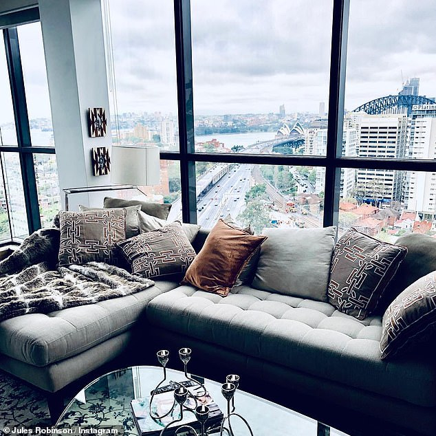 Out with the old!It is unclear why producers did not return to the Meriton Suites North Sydney. Pictured: Season six stars Jules Robinson and Cameron Merchant's former Meriton apartment
