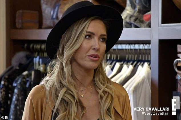 Small world: Audrina later told Kristin how a man approached her and said he was a friend of Kelly's and called Kristin a'b****'