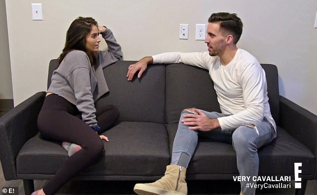 Getting serious:The one-hour E! show also showed Uncommon James employee Brittainy Taylor and fitness trainer PJ becoming an exclusive couple following her recent breakup with Jon Stone