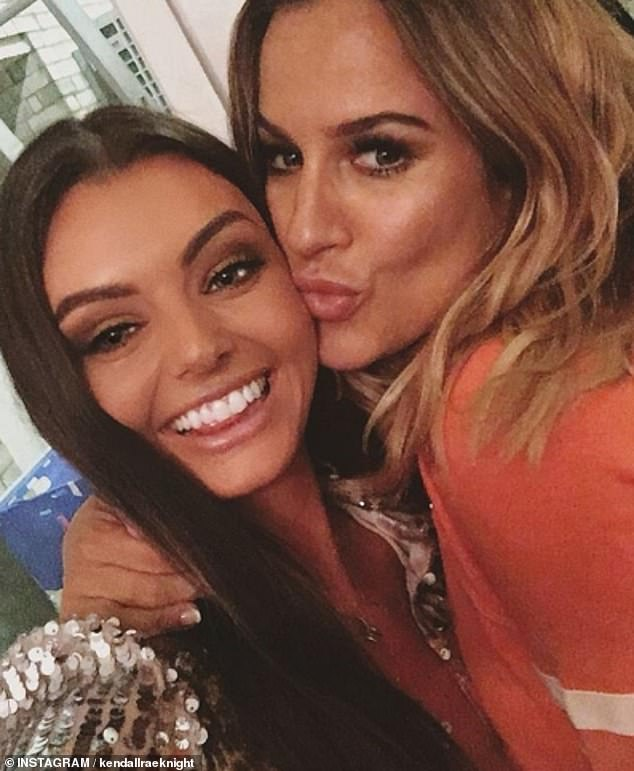 Pals: Kendall Rae Knight posted a beaming snap with Caroline as she paid tribute to the star
