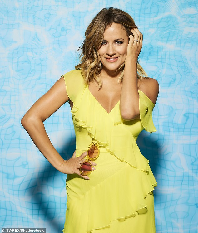 Heartbreaking: Love Island paid tribute to Caroline Flack after she was found dead at her London flat aged 40 on Saturday (pictured in 2018)